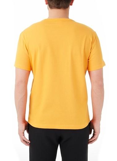 Champion  Regular Fit Bisiklet Yaka % 100 Pamuk T Shirt Erkek T Shırt 214674 Znn Os030 Oranj